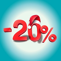 Holiday promotion! 20% on everything!