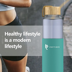 Life in Peptides style. Innovation — water bottle
